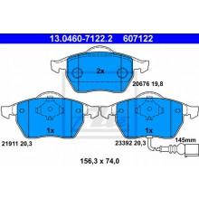 Placute frana fata ATE - 13.0460-7122.2