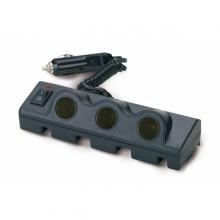 Priza bricheta auto - tripla cu buton On/Off (Bottari), 12/24V