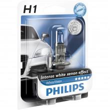 Bec Auto PHILIPS H1 12V 55W P14,5s WHITE VISION (BLISTER)