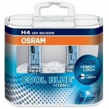 Set Becuri Auto OSRAM - H4 12V 60/55W P43t COOL BLUE INTENSE